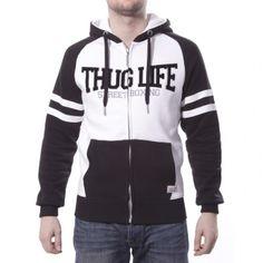 "Thug Life Zip Hoodie ""Street Boxing"" Weiss"