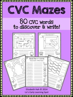 Kids love to discover words and these 30 pages will consolidate their CVC words brilliantly! $ #CVCwords #phonics