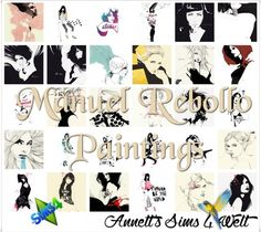 Annett`s Sims 4 Welt: Manuel Rebollo Paintings • Sims 4 Downloads