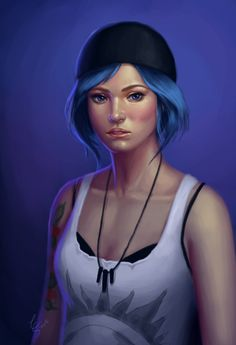 Some painting I did to study colors. Decided to paint Chloe from 'Life is Strange', I love her rebel cutie way hahahaAnd I can't wait to the next episode <3