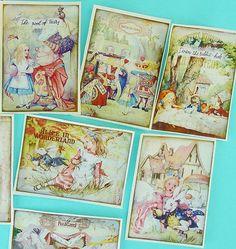 Detailed 8 Alice in Wonderland Edible Image by QueenofTartsWafers