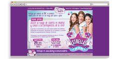 Diseño y programación del site de Violetta para Carrefour. #web #Violetta #Disney