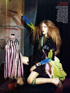 Kate Kosushkina - Model  Nick Haymes - Photographer  Havana Laffitte - Fashion Editor/Stylist  Martin Cullen - Hair Stylist  Kaori Yanagida - Makeup Artist  Gille Mills - Set Designer