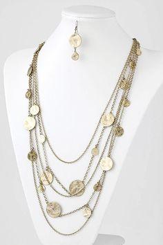 Golden Hammered Necklace Set | Emma Stine Jewelry Necklaces