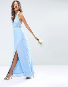 Hot Sale Annabelle Jenny Yoo Blue Chiffon Bridesmaid Dress Sexy Backless High Split 2016 Cheap Maid Of Honor Gowns For Beach Wedding Party Bridesmaid Dresses Ireland Brown Bridesmaid Dresses From Whiteone, $79.58  Dhgate.Com