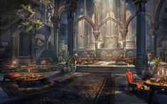 File:ON-load-Princely Dawnlight Palace.jpg - The Unofficial Elder Scrolls Pages (UESP) Fantasy Rooms, Fantasy City, Fantasy Castle, Fantasy Places, Fantasy Artwork, Fantasy World, Fantasy Art Landscapes, Fantasy Landscape, Landscape Art