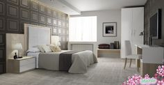 Dormitorios modernos con grandes cabeceros para estar siempre a la última, porque sabemos que te encanta estar enterada de las últimas tendencias ¿Bonitos verdad?✨✨ #Decoración #Dormitorios #Tendencia #Estilo #Modernos #Diseño #Fabricación #Muebles #DecoracióndeInteriores #Hogar #Ideas  [ Más información➔https://goo.gl/nbB0R0 ]