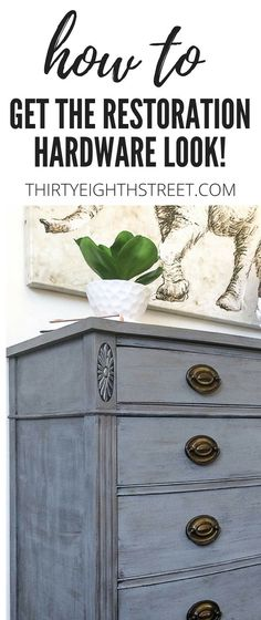 How To Create A Restoration Hardware Faux Finish. An Easy Tutorial With Tips and Tricks To Help YOU Get A Lovely High End Weathered RH Knock Off Look! | Thirty Eighth Street