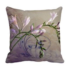 Hosta Floral Art Design Pillow