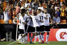 @valenciaoficial después de ganar el partido de ida de la previa de la UEFA Champions League #9ine