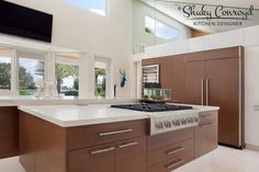 Contemporary kitchen design by Shuky Conroyd, Kitchen and Bath Designer. Winner of 2014 Crystal Design Award.