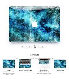 Macbook Pro 2016 Skin Cover Keyboard Blue Dark decal Space Vinyl Macbook 11 Pro Skin Macbook Cover M Macbook Pro Tips, Macbook Pro Cover, Macbook Case, Laptop Covers, Apple Macbook Pro, Macbook Skin, Cute School Supplies, Galaxy Design, Custom Vinyl
