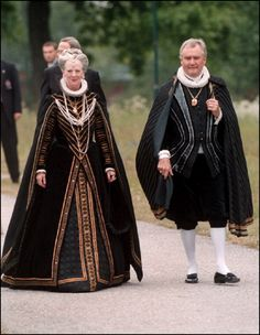 Queen Margrethe II of Denmark and husband Henrik, Prince Consort of Denmark