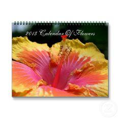 Assorted Flowers Photography Close Up 2015 Wall Calendar