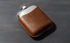 Leather Flask Case - Kaufmann Mercantile
