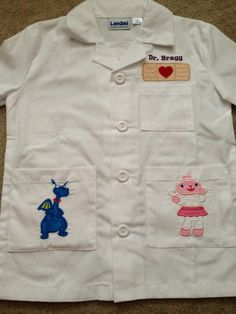 Doc Mcstuffins Doctors Coat, Personalized with 2 characters