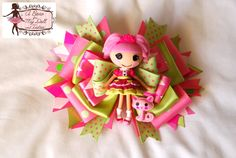 Lalaloopsy Jewel Sparkles Hair Bow  Like facebook Page:  http://www.facebook.com/pages/A-Bow-for-my-Doll-Tutus-by-Gloria-Chang/237381999629806  http://abowformydoll.storenvy.com/