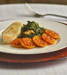 Funke Koleosho's Food Blog: Plantain with Stewed Spinach