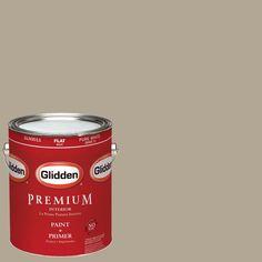 Glidden Premium 1-gal. #HDGWN59U Potter's Clay Beige Flat Latex Interior Paint with Primer