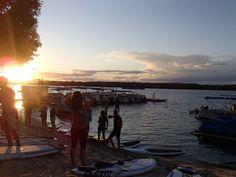 Getting ready for a full moon paddle Noosa style. Join us for the next one on the 27th October.