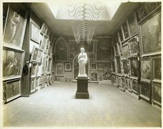 What a room: Interior art gallery of the New York Historical Society at Second Avenue and 11th Street (1857-1908).