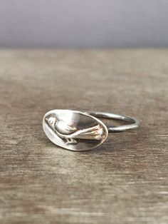 Bird ring sterling silver ring delicate ring made to