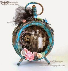 Finnabair: Creative Team September & A Giveaway Clock frame by Linda