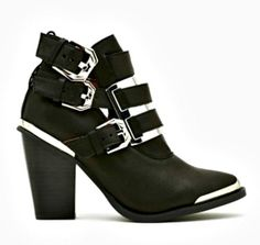 Try these punk buckled boots from Nasty Gal // ...