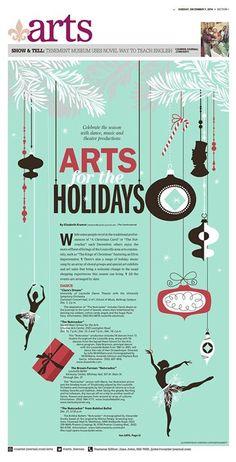Arts holidays  #Newspaper #GraphicDesign #Layout