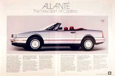 Cadillac Allante Convertible  Really Low Priced Used Luxury Roadster