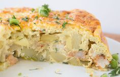 Let's take our weeknights dinners international with my delicious taste of Spain! Shrimp Tortilla Española, for a world of flavor! Brunch Casserole, Easy Casserole Recipes, How To Cook Shrimp, How To Cook Eggs, Shrimp Quiche, Egg Tortilla, Luau Food, Seafood Dinner, Breakfast Dishes