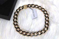 NWT Jewelry by Karen Kane Secret Garden Collar Gold&Black Necklace RP:$98 #byKarenKane