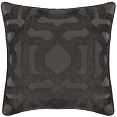 "Modello Pillow 22"" - Charcoal ($80) ❤ liked on Polyvore featuring home, home decor, throw pillows, charcoal throw pillows, graphic throw pillows, eggplant throw pillows and square throw pillows"