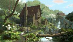 farmer's house, Lee b on ArtStation at http://www.artstation.com/artwork/farmer-s-house