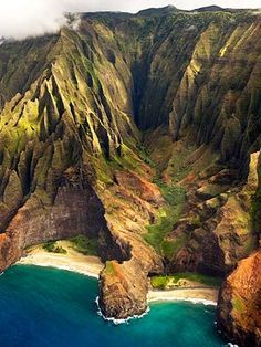 The Napali Coast nourishes the soul. Kauai's famous coastline is truly majestic, featuring emerald green pinnacles towering along the shoreline for 17-miles. Saw this on a helicopter tour in 2010.