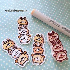 ツムツムみたいなハンコ★ :: *chicchi*no*mori* yaplog!(ヤプログ!)byGMO Fabric Stamping, Stamping Up, Stamp Printing, Screen Printing, Make Your Own Stamp, Eraser Stamp, Tsumtsum, Stamp Carving, Miniature Crafts