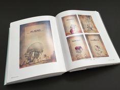 Przegląd plakatów autorstwa Tomasza Opasińskiego, na których głównym bohaterem jest Munny. Plakaty nawiązują do znanych z popkultury opowieści i bohaterów: Hellboya, Obcego, Terminatora (fot. archiwum prywatne)