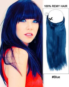 Wholesale Blue Straight Remy Hair Flip In Human Hair Extensions Secret Hair Extensions, Flip In Hair Extensions, Midnight Blue Hair, Hair Flip, Lace Front Wigs, New Hair, Straight Hairstyles, Hair Styles, Voluminous Hair