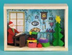 Santa Room Erzgebirge Matchbox Wood Christmas Miniature Made in Germany New #PinnaclePeakTradingCompany