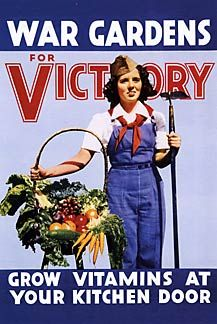 """War Gardens for Victory"" - WW2 Poster - I'd love to get this into our garden somehow"