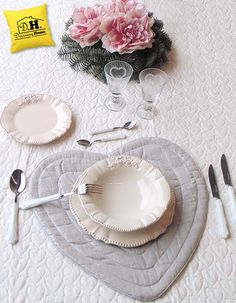 Tovaglietta americana Pizzo & Vinile Shabby Chic Blanc Mariclo ...