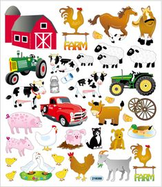 "Farm Animal Stickers used-to decorate cards & envelopes. "" On the Farm""."