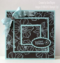 secret garden triple time pool party embossed card by Sara Rayner 2013-03