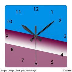 Stripes Design Clock