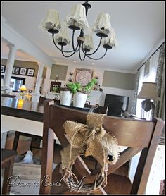 Love the burlap on the chair