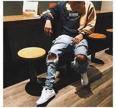 Skater Outfits, Mode Outfits, Swag Outfits, Casual Outfits, Black Men Street Fashion, Mens Fashion, Style Fashion, Fashion Ideas, Fashion Outfits