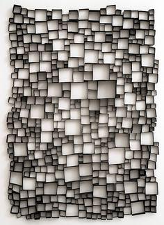 'Partition of by German artist Christiane Feser Photo object, 110 x 80 x 2 cm. Graphisches Design, Wall Design, Graphic Design, Sculpture Art, Sculptures, Instalation Art, Fractal, Geometric Art, Op Art