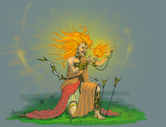 Idiris is the princess of the realm. Her powers to manipulate Fire and other elements makes her a deadly foe.