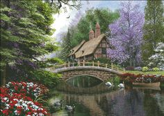 Supersized River Cottage [DAVISONSS31326] - $19.00 : Heaven And Earth Designs, cross stitch, cross stitch patterns, counted cross stitch, christmas stockings, counted cross stitch chart, counted cross stitch designs, cross stitching, patterns, cross stitch art, cross stitch books, how to cross stitch, cross stitch needlework, cross stitch websites, cross stitch crafts