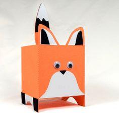 Fox Theme Party Favor Boxes